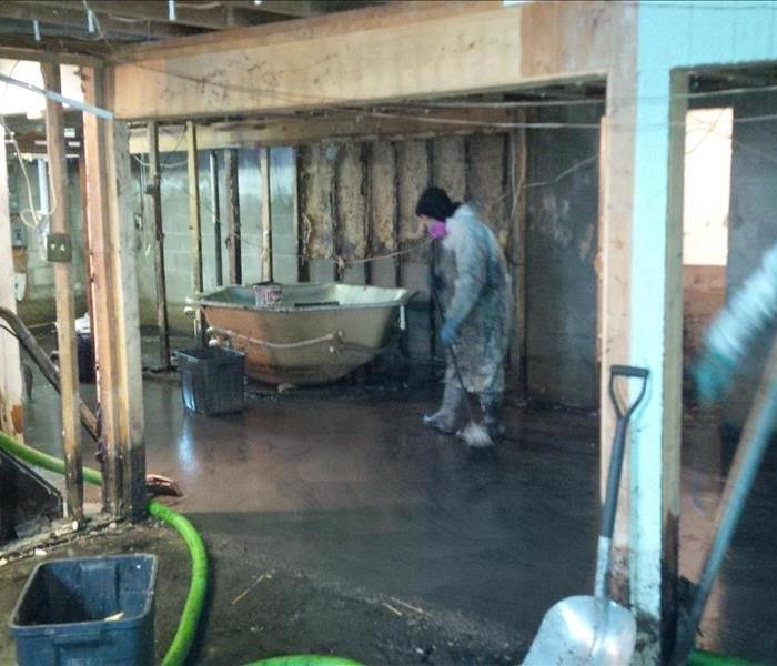 Water damage Restoration Hoarding Clean up Tear out - After